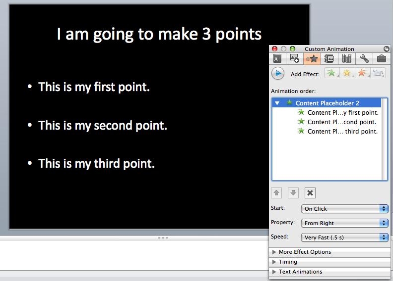 how to put bullet pointsa on google slides