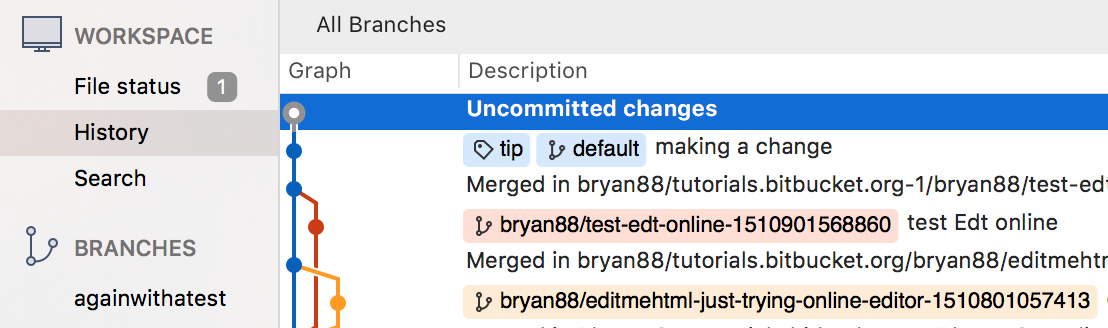 SourceTree uncommitted changes