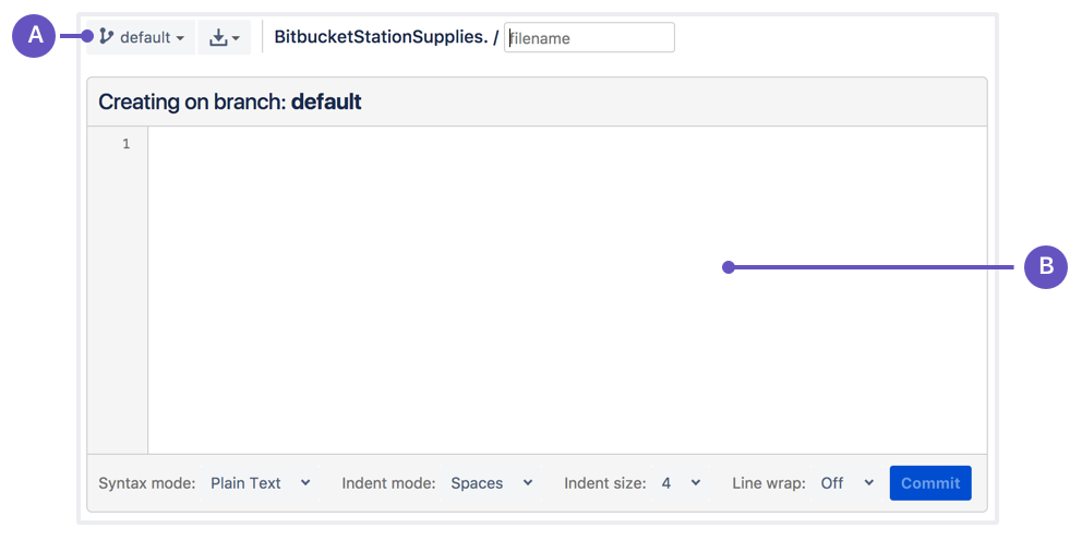 Bitbucket new file