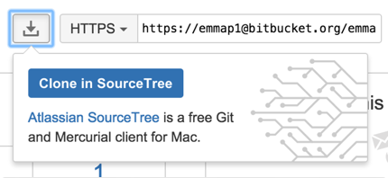 Bitbucket clone in Sourcetree