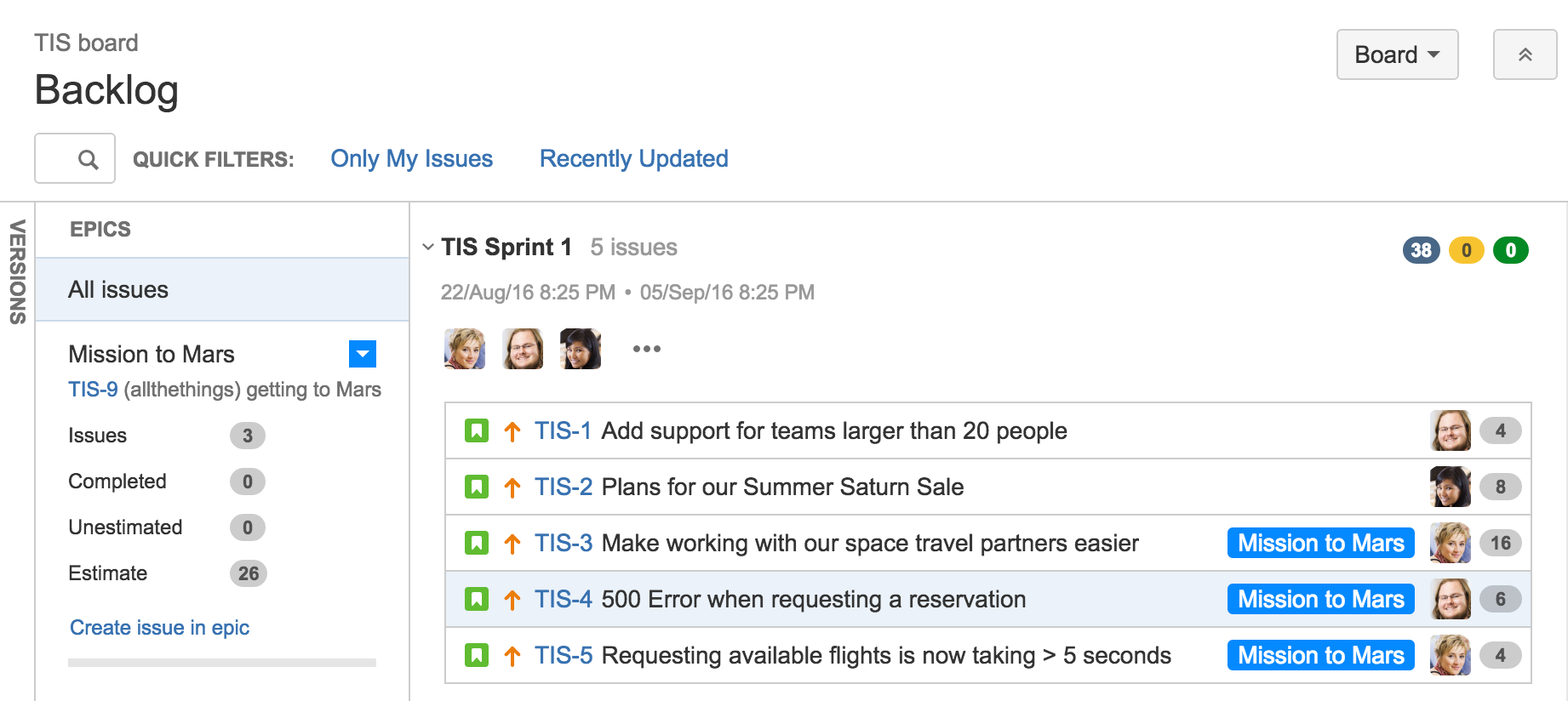 Epics stories versions and sprints the agile coach