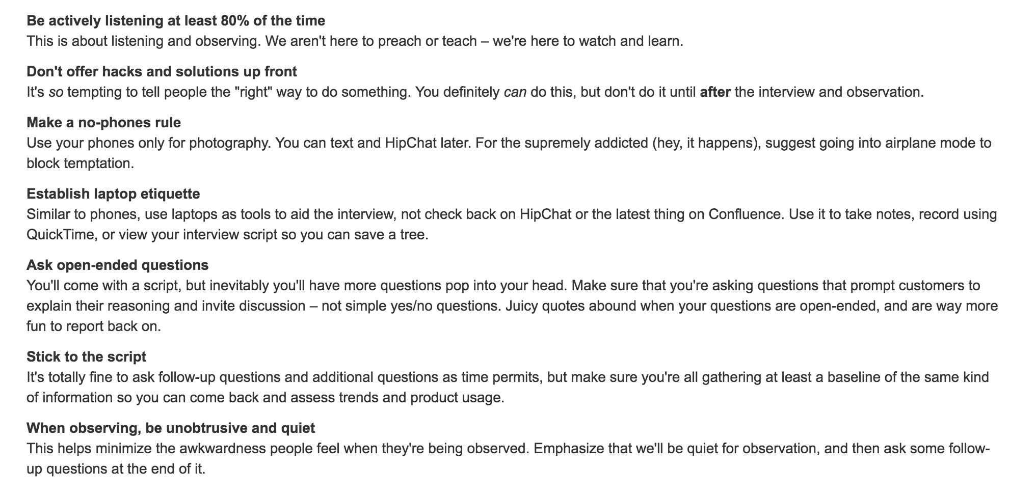 Contextual Inquiry Know Thy Customer Atlassian 团队行动手册